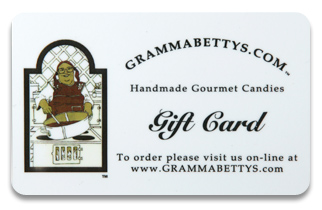 Gift Cards from Gramma Betty's